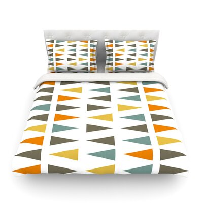 Stacked Geo by Pellerina Design Featherweight Duvet Cover Size: Twin, Fabric: Cotton
