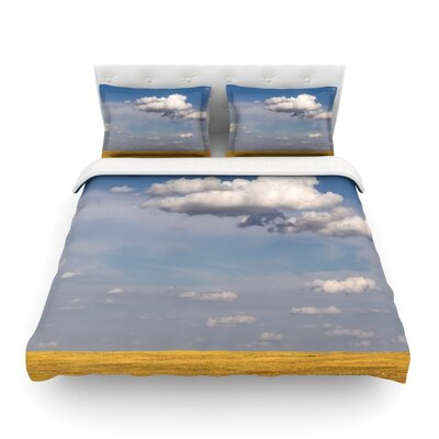 Big Sky by Ann Barnes Featherweight Duvet Cover Size: Twin, Fabric: Lightweight Polyester