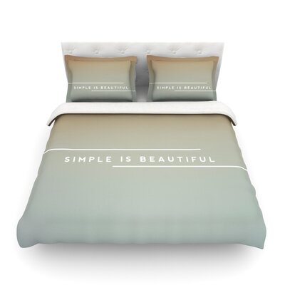 Simple Beautiful Light by Galaxy Eyes Featherweight Duvet Cover Size: Queen