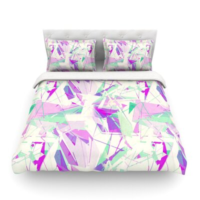 Shatter Light by Alison Coxon Featherweight Duvet Cover Color: Purple, Size: King/California King, Fabric: Lightweight Polyester