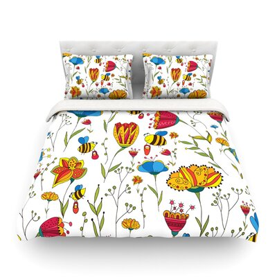 Bees by Alisa Drukman Featherweight Duvet Cover Size: Twin, Fabric: Lightweight Polyester