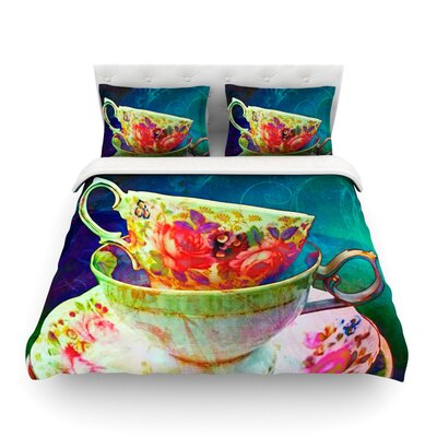Mad Hatters T-Party V by alyZen Moonshadow Featherweight Duvet Cover Size: Queen, Fabric: Lightweight Polyester