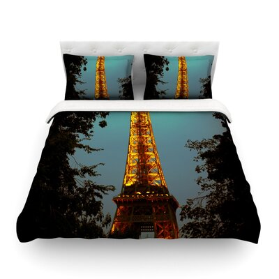 Tour Eiffel by Ann Barnes Featherweight Duvet Cover Size: Twin, Fabric: Lightweight Polyester