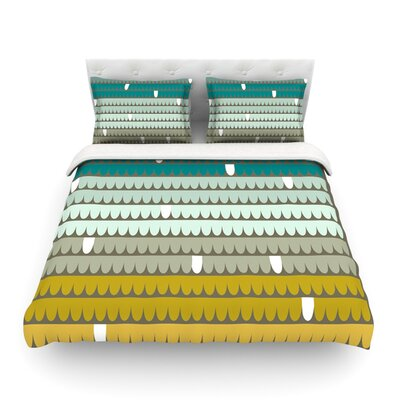 Scallops by Pellerina Design Featherweight Duvet Cover Size: Twin, Color: Blue