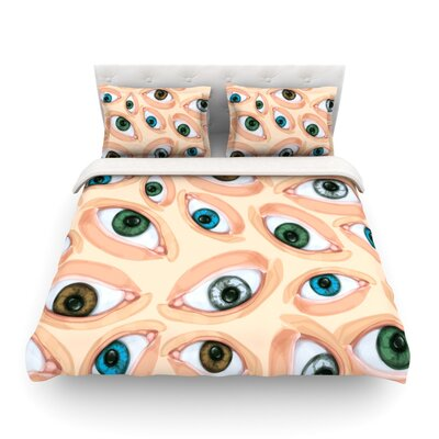 Eyes by Alisa Drukman Featherweight Duvet Cover Size: King/California King, Fabric: Cotton