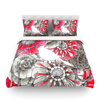 Cardinal by Anchobee Featherweight Duvet Cover Size: Twin, Fabric: Lightweight Polyester