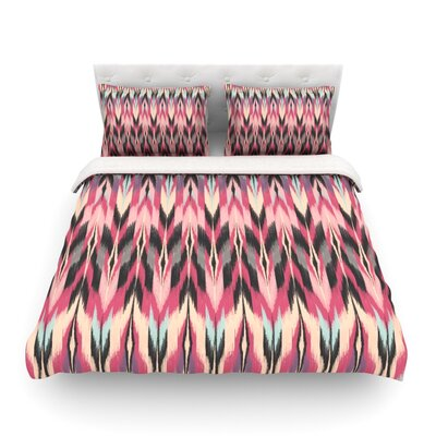 Dreamhaze Tribal by Amanda Lane Featherweight Duvet Cover Size: King, Fabric: Woven Polyester