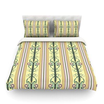 Blooming Trellis by Mydeas Featherweight Duvet Cover Size: King/California King, Fabric: Lightweight Polyester