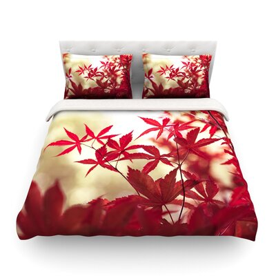 September Afternoon by Ann Barnes Leaves Featherweight Duvet Cover Size: Queen, Fabric: Lightweight Polyester