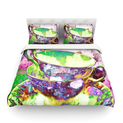 Mad Hatters T-Party II by alyZen Moonshadow Featherweight Duvet Cover Size: Queen, Fabric: Lightweight Polyester