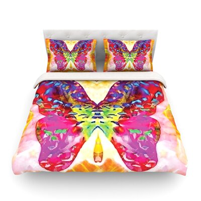 Butterfly Spirit by Anne LaBrie Featherweight Duvet Cover Size: Queen, Fabric: Lightweight Polyester