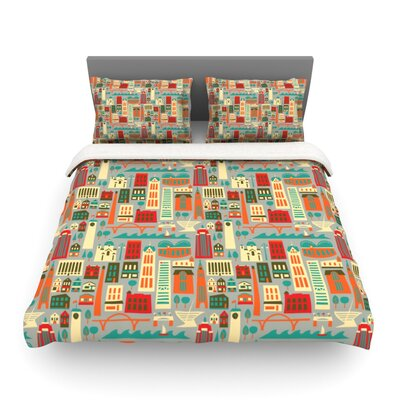 My Fair Milwaukee by Allison Beilke City Featherweight Duvet Cover Size: Queen, Fabric: Lightweight Polyester
