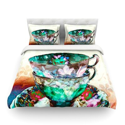 Mad Hatters T-Party III by alyZen Moonshadow Abstract Featherweight Duvet Cover Fabric: Lightweight Polyester, Size: Queen