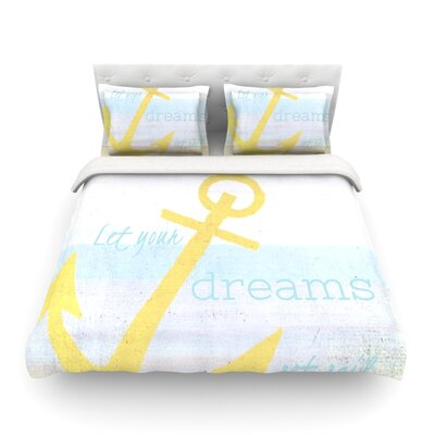 Let Your Dreams Set Sail by Alison Coxon Featherweight Duvet Cover Size: Twin