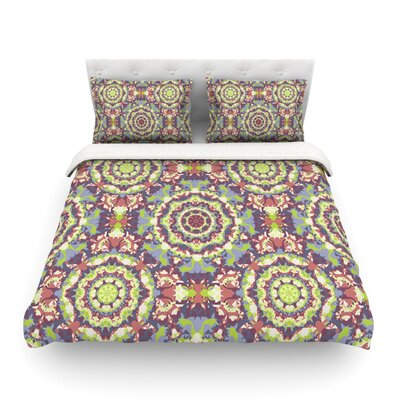 Plum Lace by Allison Soupcoff Featherweight Duvet Cover Size: Twin, Fabric: Cotton