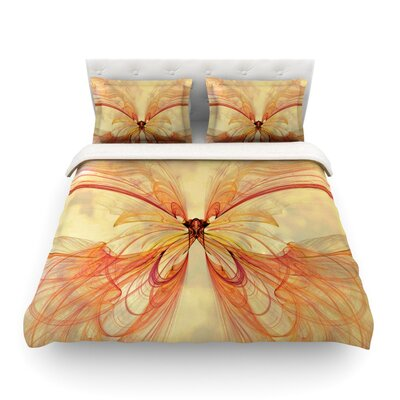 Papillon by Alison Coxon Featherweight Duvet Cover Size: Queen, Fabric: Lightweight Polyester