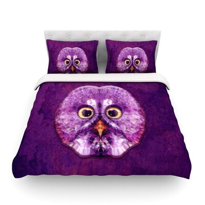 Hoot by Ancello Featherweight Duvet Cover Size: Queen