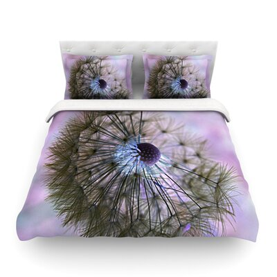Dandelion Clock by Alison Coxon Featherweight Duvet Cover Size: Queen, Fabric: Cotton