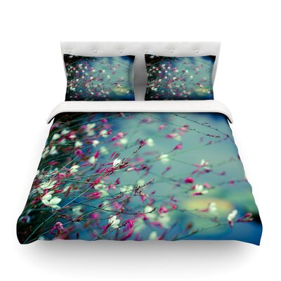 Monets Dream by Ann Barnes Dark Flower Featherweight Duvet Cover Size: King/California King, Fabric: Lightweight Polyester
