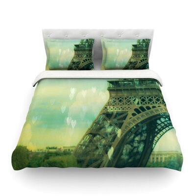 Paris Dreams by Ann Barnes Featherweight Duvet Cover Size: Twin, Fabric: Lightweight Polyester