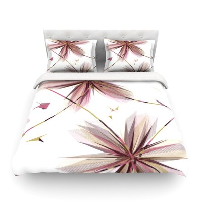 Flower Aubergine by Alison Coxon Featherweight Duvet Cover Size: Twin