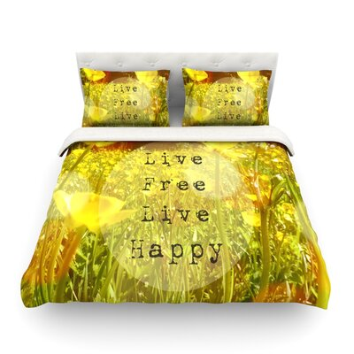 Live Free by Alison Coxon Featherweight Duvet Cover Size: Queen, Fabric: Lightweight Polyester
