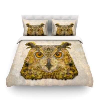Abstract Owl by Ancello Featherweight Duvet Cover Size: King/California King, Fabric: Lightweight Polyester