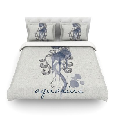 Aquarius by Belinda Gillies Woven Duvet Cover Size: Twin
