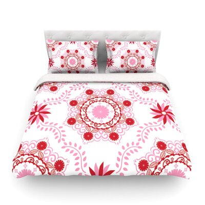 Lets Dance by Anneline Sophia Featherweight Duvet Cover Size: King/California King, Color: Red/Pink Size: King/California King, Color: Red/Pink