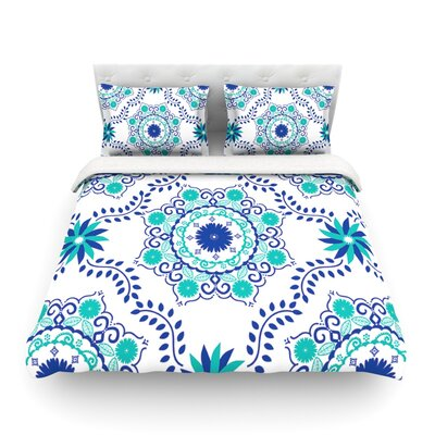 Lets Dance by Anneline Sophia Featherweight Duvet Cover Size: King/California King, Color: Red/Pink Color: Blue/Teal, Size: Queen