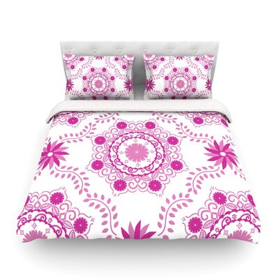 Lets Dance by Anneline Sophia Featherweight Duvet Cover Size: King/California King, Color: Red/Pink Size: Twin, Color: Pink