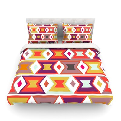 Aztec Weave Light by Pellerina Design Featherweight Duvet Cover Size: Queen, Fabric: Lightweight Polyester
