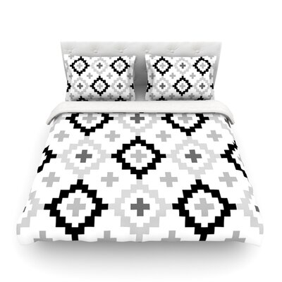 Moroccan Light by Pellerina Design Geometric Featherweight Duvet Cover Size: Queen