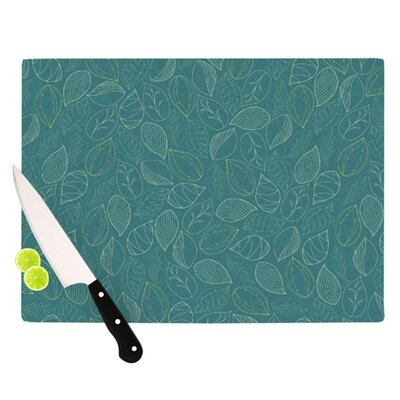 Autumn Leaves by Emma Frances Cutting Board Size: 0.5
