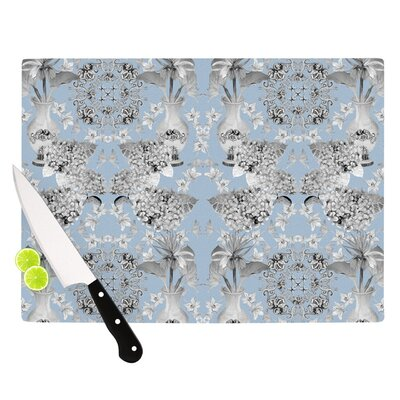 "Kess InHouse Versailles by DLKG Design Cutting Board - Size: 0.5"" H x 11"" W x 7.5"" D, Color: Blue"