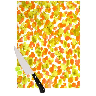 "Giraffe Spots by Ebi Emporium Cutting Board Size: 0.5"" H x 11"" W x 7.5"" D, Color: Orange/Yellow JD1073ACB01"