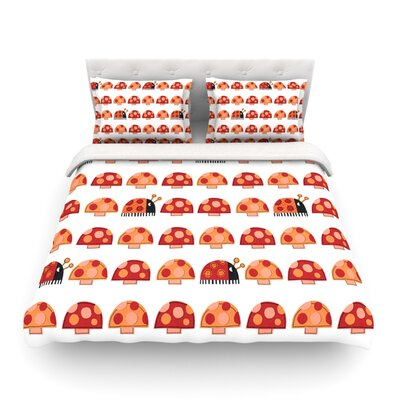 Garden Ladybugs by Jane Smith Featherweight Duvet Cover Size: King/California King, Fabric: Cotton
