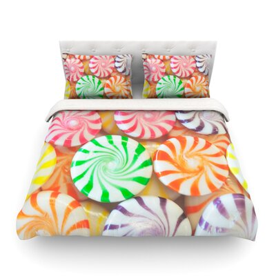 I Want Candy by Libertad Leal Featherweight Duvet Cover Size: Full/Queen, Fabric: Woven Polyester