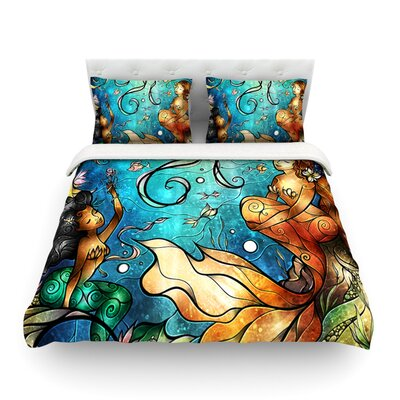 Under the Sea by Mandie Manzano Featherweight Duvet Cover Size: Twin, Fabric: Woven Polyester