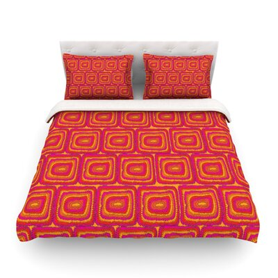 Motifs in Green by Nandita Singh Woven Duvet Cover Size: Queen