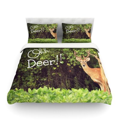 Furniture-KESS InHouse Ohh Deer by Robin Dickinson Featherweight Duvet Cover