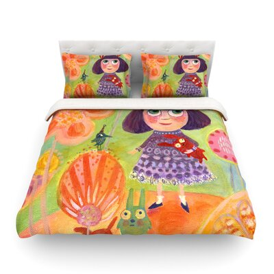Flowerland by Marianna Tankelevich Featherweight Duvet Cover Size: King/California King