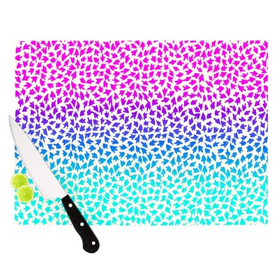 "Ombre Arrows by Sreetama Ray Cutting Board Size: 0.5"" H x 15.75"" W x 11.5"" D SR1027ACB02"