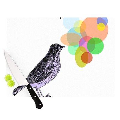 "Candy Birds by Sreetama Ray Geometry Bird Cutting Board Size: 0.5"" H x 15.75"" W x 11.5"" D SR1002ACB02"