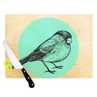 "Old Paper Bird by Sreetama Ray Circle Cutting Board Size: 0.5"" H x 11"" W x 7.5"" D SR1008ACB01"