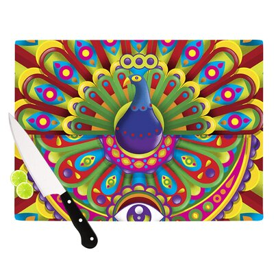 Peacolor by Roberlan Rainbow Peacock Cutting Board Size: 0.5