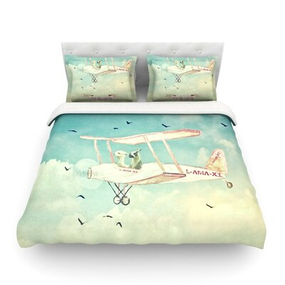 Never Stop Exploring II by Monika Strigel Featherweight Duvet Cover Size: Twin