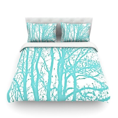 Mint Trees by Monika Strigel Featherweight Duvet Cover Size: Queen, Fabric: Cotton