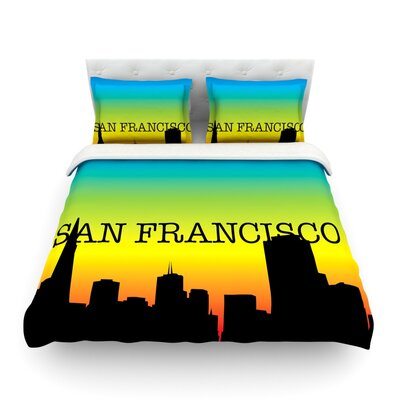 San Francisco by  Featherweight Duvet Cover Size: Queen, Fabric: Woven Polyester