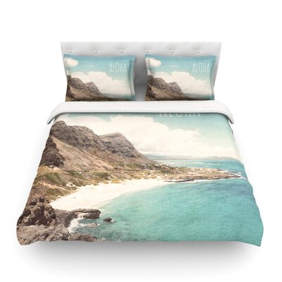 Aloha by Nastasia Cook Beach Featherweight Duvet Cover Size: Queen, Fabric: Cotton